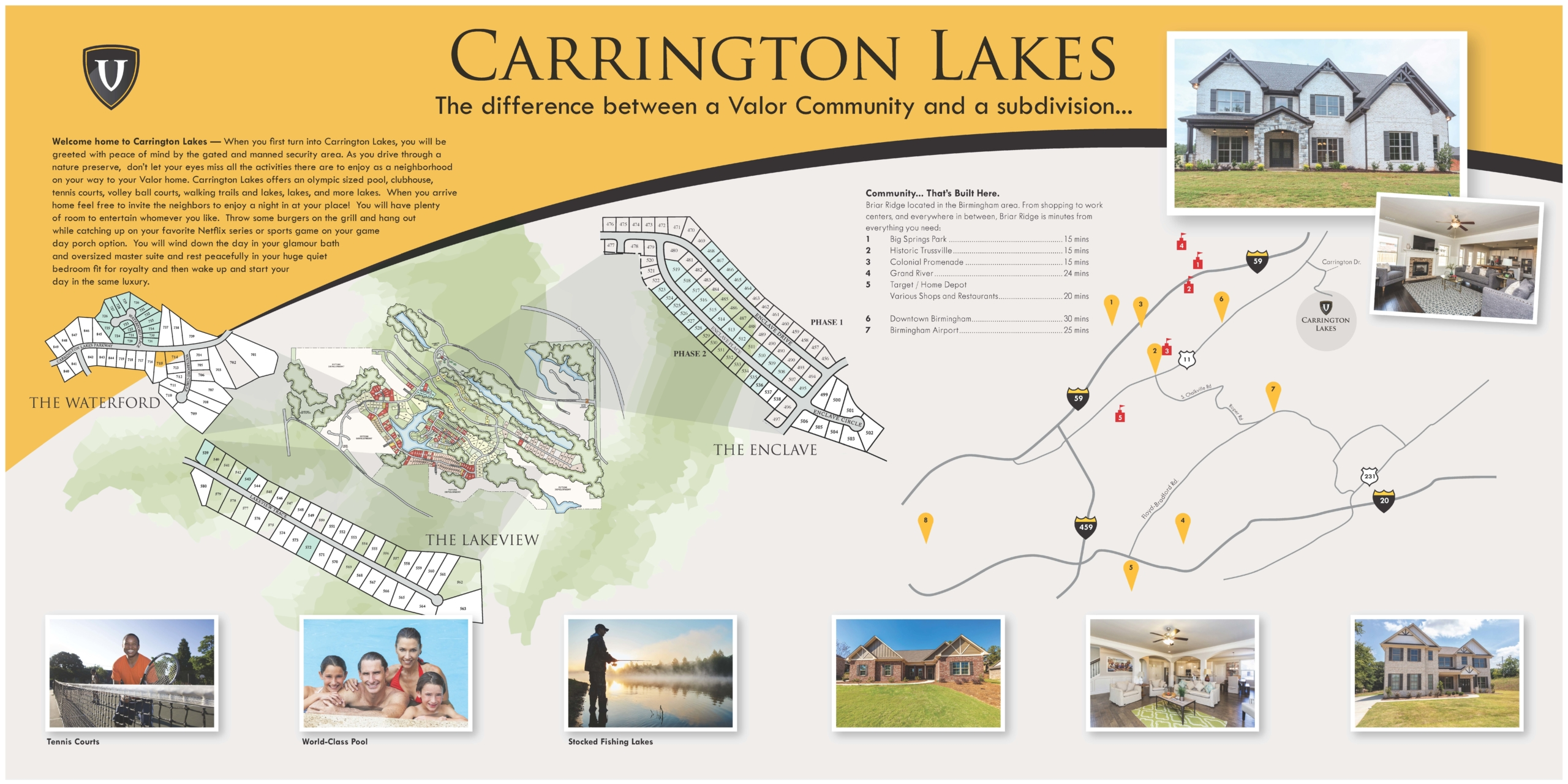 Carrington Lakes Info